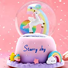 SENCU Gifts for Girls,3.93 Inch Musical Snow Globes with Automatic Rotation and Snow Drift,Stocking Stuffers for Kids,Fun ...