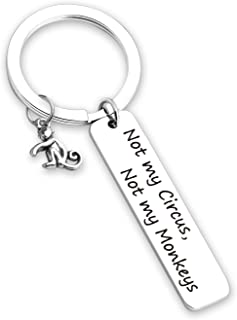 EIGSO Retirement Gift Not My Circus Not My Monkeys Keychain Going Away Jewelry Gift Happy Retirement Jewelry Inspirational Social Worker Gift …