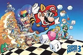 Pyramid America Super Mario Bros. 3 Mario Luigi Princess Nintendo Game Series Cool Wall Decor Art Print Poster 36x24