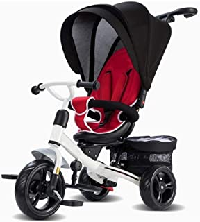 Barn trehjulingar med styrhandtag med justerbar Seat med Canopy Småbarn Bike ( Color : Red )