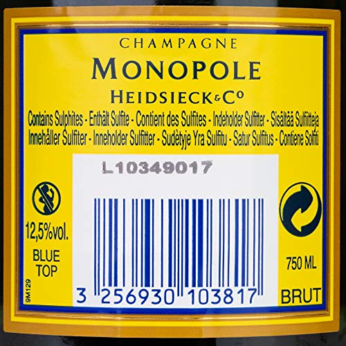 Champagne Monopole Heidsieck Blue Top Brut mit Geschenkverpackung (1 x 0,75 l) - 4