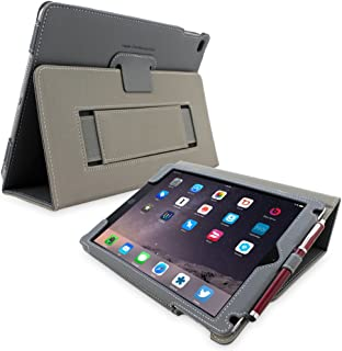 Snugg iPad 3 & 4 Case - Smart Cover with Flip Stand & (Grey Leather) for Apple iPad 3 and 4