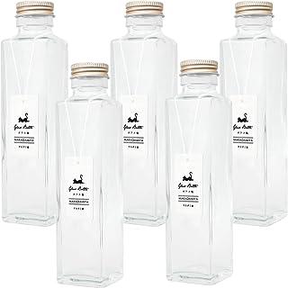ガラス瓶角型150ml×5本セット (スクリューキャップ付き) ハーバリウムに最適