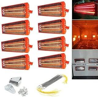 Adoner 8 x 2KW - Calentador de lámpara con luz de Secado por Infrarrojos, Color Rojo