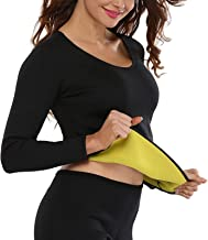 Hhwei Womens Hot Thermo Shaper T Shirt Neopreen Afslanken Bodysuit Workout Zweet Sauna Vetverbrander Tops