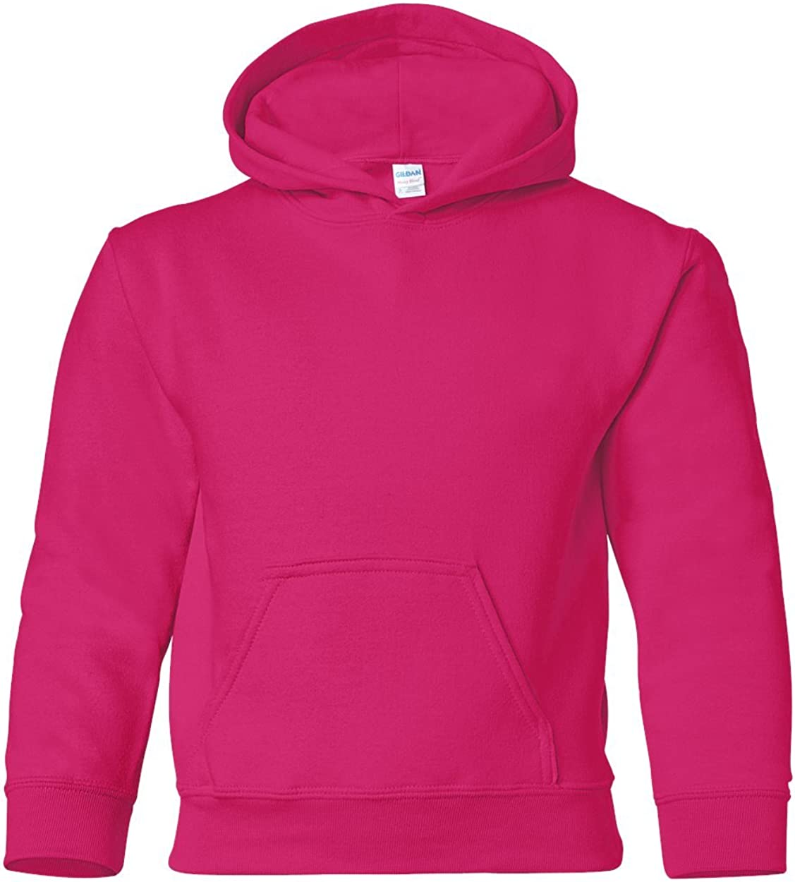 Heavy Blend Hooded Sweatshirt (G185B) Heliconia, M (Pack of 12)