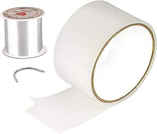 MAGZO Screen Patch Repair Kit, White Door Window Screen Repair Tape Fiberglass Screen Mend Strong Adhesive Seal for Repair Holes Tears(2