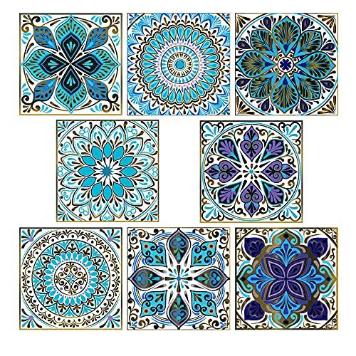 20 mattonelle autoadesive adesive impermeabili per piastrelle, per cucina, bagno, scale, decorazione per la casa (multi)