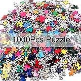 FGASAD 1000 rompecabezas de paleta de arco iris,rompecabezas para niños,adultos,adolescentes,juguetes de descompresión, regalos de aprendizaje y juguetes educativos,regalos para el día de los niños
