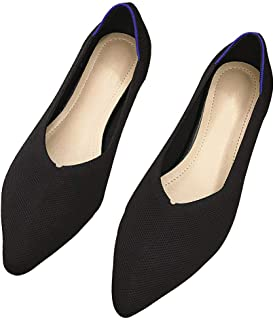 Womens Comfortable Pointed Toe Flats Breathable Mesh Slip On Loafers Ladies Causal Driving Work Ballet Dress Shoes