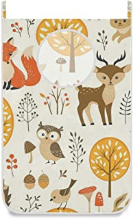 Panier à linge suspendu sac arbre oiseau hibou cerf renard porte / mur / placard suspendu grand sac à linge panier pour or...