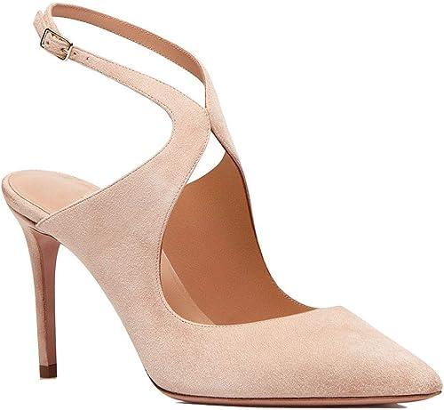 Elobaby Femmes Sandales Chaussures Plateforme Stiletto Talons Hauts Escarpins Parti Boucle Grande Taille Nude Abricot Sexy