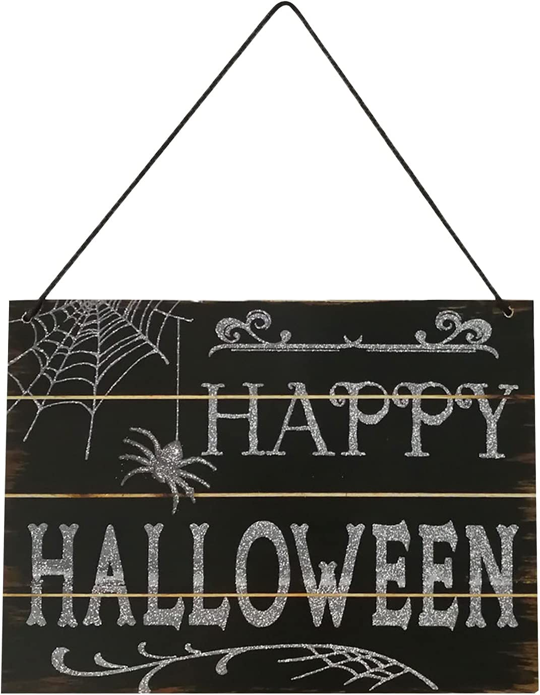 Kairaley Halloween safety Decoration Award Sign in Door Front Hallo of Happy
