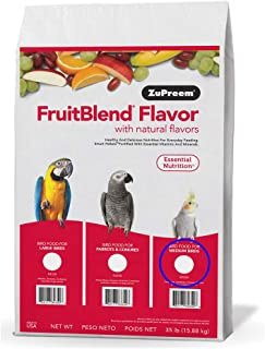 Zupreem 230340 Fruitblend With Natural Fruit Flavors For Medium Birds 35 Lbs