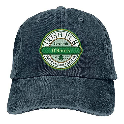 chipo Sombrero Pub irlandés Unisex para Personalizar Vintage Chic Trucker Hats Gorra de béisbol Ajustable de Mezclilla