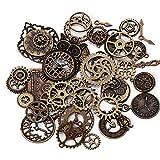 Miner 40Pcs Set Retro Metal galvanizado Gear Gear Engranajes mecánicos Mixtos Reloj Reloj Accesorios para DIY Piezas de Engranajes de Reloj Hechos a Mano