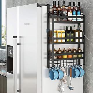 YJKDM Support de Rangement latéral pour réfrigérateur, Organisateur d'ustensiles de Cuisine Mural Multicouche Domestique, ...