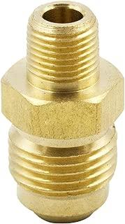 Legines Brass Tube Fitting, SAE 45 Degree Flare Adapter Union, 5/8