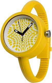 IOION Bud Unisex Bud Fantasy Flake Yellow Silicone Band Watch [BF-YLW40]
