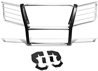 DNA MOTORING Silver GRILL-G-077-SS Stainless Steel Front Bumper Brush Grille Guard