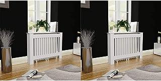 honglianghongshang Accesorios para electrodomésticos Accesorios para radiadores de calefacciónCubiertas para radiador 2 Unidades MDF Blanco 112 cm