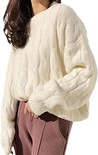 [スカイシイ] S~XXL 9カラー ゆるニット セーター バルーン袖 ケーブル編み レディース