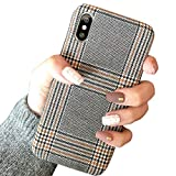 for iPhone X for iPhone Xs NAMA Soft Cloth Grid Fabric...