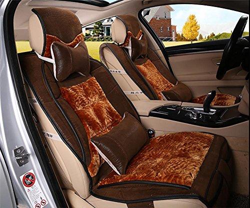 AMYMGLL Accessoires automobiles Seat Cover Deluxe (10set) Édition voiture universel de haute qualité en cuir + peluche Four Seasons 5 Sélection de couleur , #33