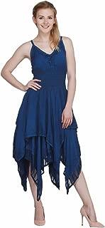 Women's Slim Strap Embroidered Dress