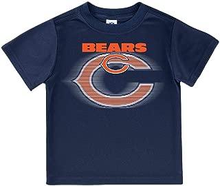 NFL Chicago Bears Boys Short Sleeve Solid Logo Tee Shirt, Team Color, 2T
