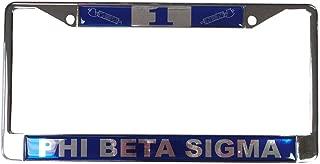 Desert Cactus Phi Beta Sigma Line Number # Metal License Plate Frame for Front Back of Car Sigma (#1 License Plate Frame)