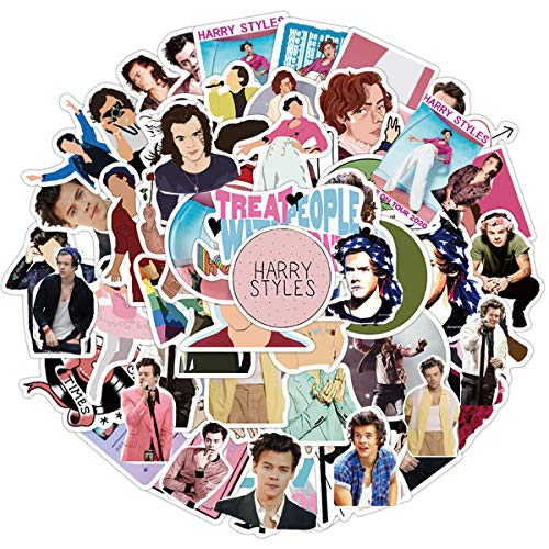 Singer Harry Styles Stickers 50PCS for Laptop and Water Bottles,Waterproof Durable Trendy Vinyl Laptop Decal Stickers Pack for Teens, Water Bottles, Computer, Travel Case (Harry Styles)