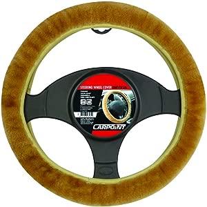 Carpoint 2510028 Steering Wheel Cover Beige Lambskin
