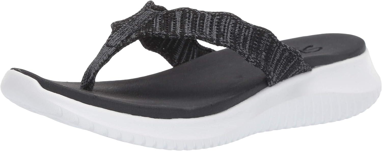 Skechers Women's Ultra Flex-Engineered Charlotte Mall Flip-Flop Selling rankings Knit