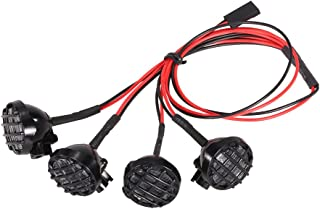 Goolsky 4 LED weiße Lichter mit Lampenschirm Dachleuchte Suche Lampe für 1:10 1:8 Traxxas HSP Redcat RC 4WD Tamiya Axial SCX10 D90 HPI RC Rock Crawler