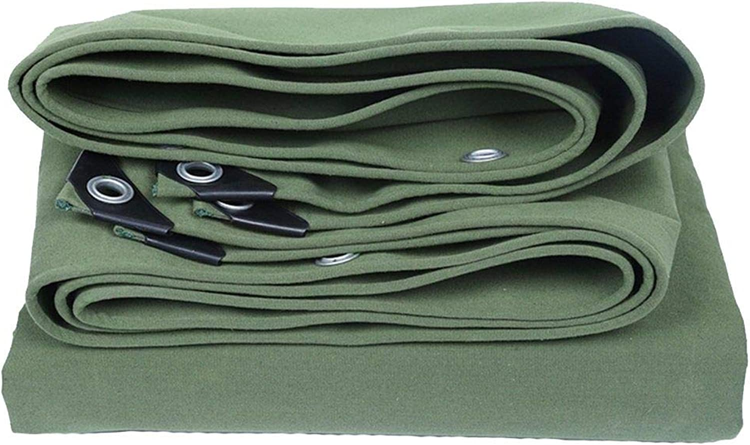 Waterproof Tarpaulin, Tarp with Eyelets Awning Tent Ground Sheet Covers Heavy Duty Rainproof Sun Predection, 400g M2 GAOFENG (color   Green, Size   5  7m)