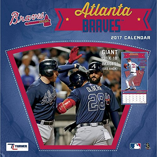 "Turner Licensing Sport 2017 Atlanta Braves Team Wall Calendar, 12""X12"" (17998011841)"