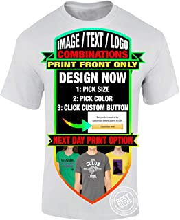 Custom Personalized T-Shirts Unisex Men Women or Youth Different Print Locations - Text, Logo, Image or Custom Design