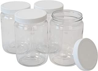 """NEW Ribbed Tight Seal Jar w// Rounded Lid 6/""""  Apothecary Storage Candy Sugar"""