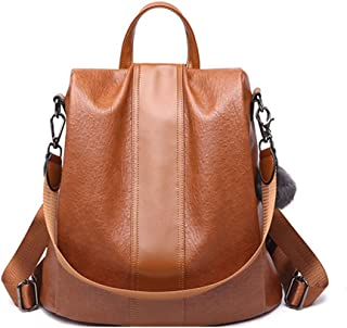 Women Backpack Purse PU Leather Anti-theft Casual Daypack Ladies Rucksack Shoulder Bags