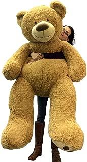 5 Foot Very Big Smiling Teddy Bear Soft with Bigfoot Paws, Giant Stuffed Animal Bear