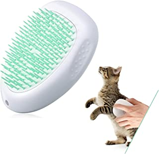 Sponsored Ad - SIYUAN Cat Brush and Dog Brush,Pet Brush with Cleaning Button for Shedding, Massage and Grooming,Soft and C...