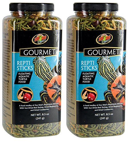 (2 Pack) Zoo Med Gourmet Reptisticks For Aquatic Turtles, 8.5 oz