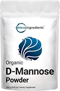 Organic D Mannose Powder, 8.8 Ounce (250 Grams), Pure Mannose Supplement, Powerfully Support Urinary Tract Cleanse and Bla...