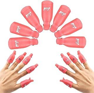 10 Piezas Plástico Uñas Esmalte Herramienta de Removedor Clips, Acrílico Uñas Arte Empapa Clips Quitaesmalte, Gel UV Esmal...