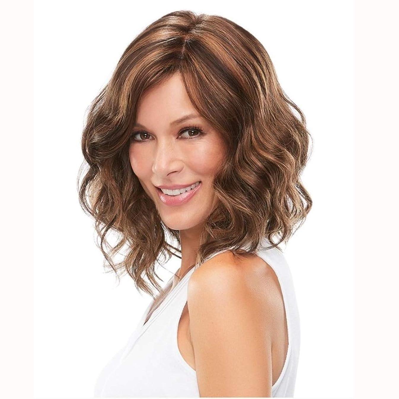 肉屋ヘクタール十一Summerys 短い巻き毛のふわふわのかつら女性の女の子のための短い波状の合成かつら