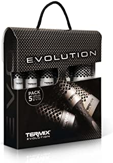 Pack Termix Evolution Basic - Hairbrushes for Normal Hair with ionized bristles for Hair of Medium Thickness- It Includes ...