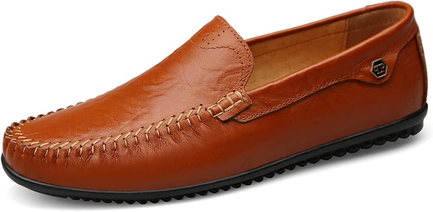 Btrada Leather Max 69% OFF Casual Penny Shoes Slip-on for Travel Max 43% OFF Trendy Men