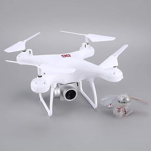 WOSOSYEYO XG183 2,4G RC Selfie-Drohne FPV Quadcopter mit 720P Kamera Echtzeit H  halten LED-Wort programmierbare Requisiten (Weiß