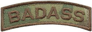LEGEEON Badass Shoulder Tab Multicam Badge US Army Tactical Morale Hook&Loop Patch